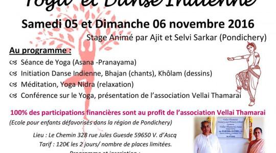 Week-end  Yoga et Danse Indienne animé par Ajit et Selvi Sarkar