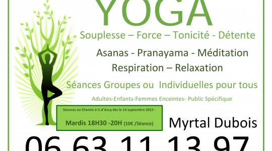 Yoga Pour Tous Au Chemin reprise des cours